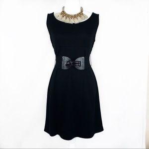 STYLE & CO BLACK DRESS SLEEVELESS W/BELT SIZE 6